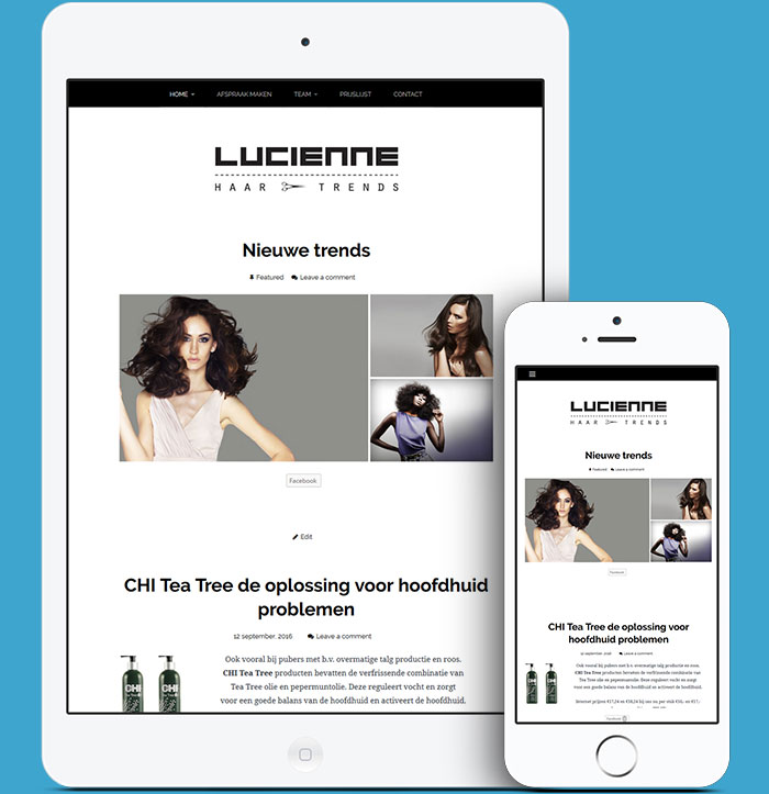 Website Lucienne Haar & Trends